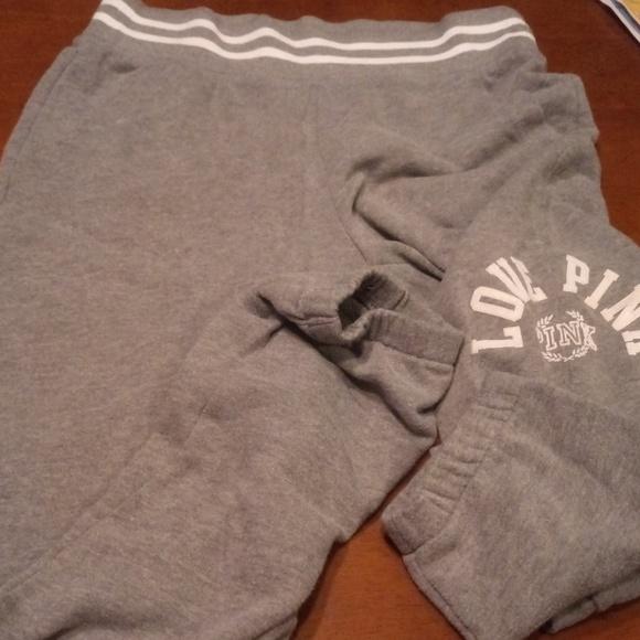 Victoria Secret Pink Graphic Sweat Pants Size S